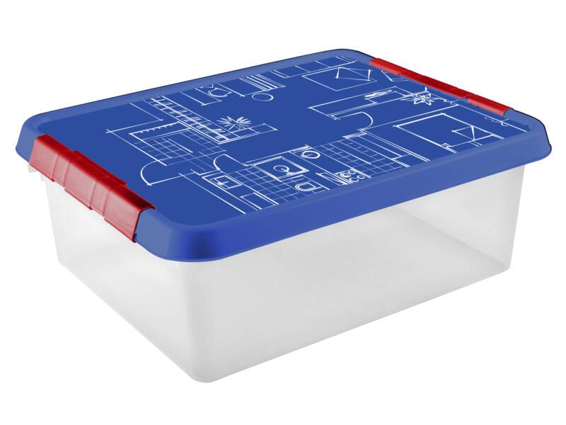 Sunware Q-Line Blueprint boîte de rangement 25l