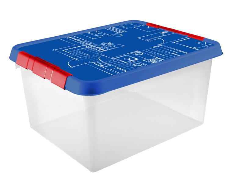 Sunware Q-Line Blueprint boîte de rangement 36l