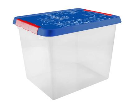 Sunware Q-Line Blueprint opbergbox 52l transparant-blauw
