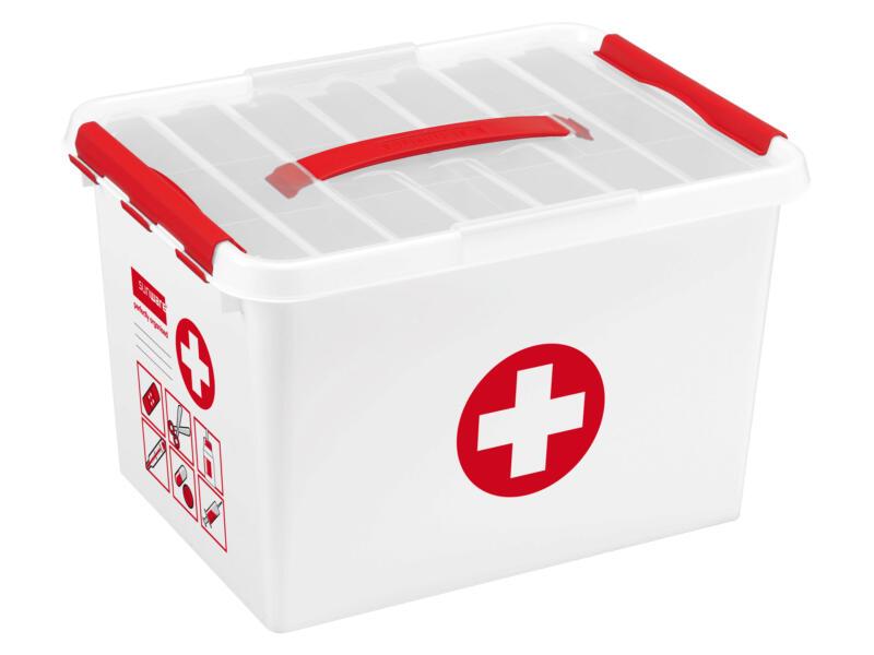 Sunware Q-Line First Aid boîte de secours sans contenu 22l