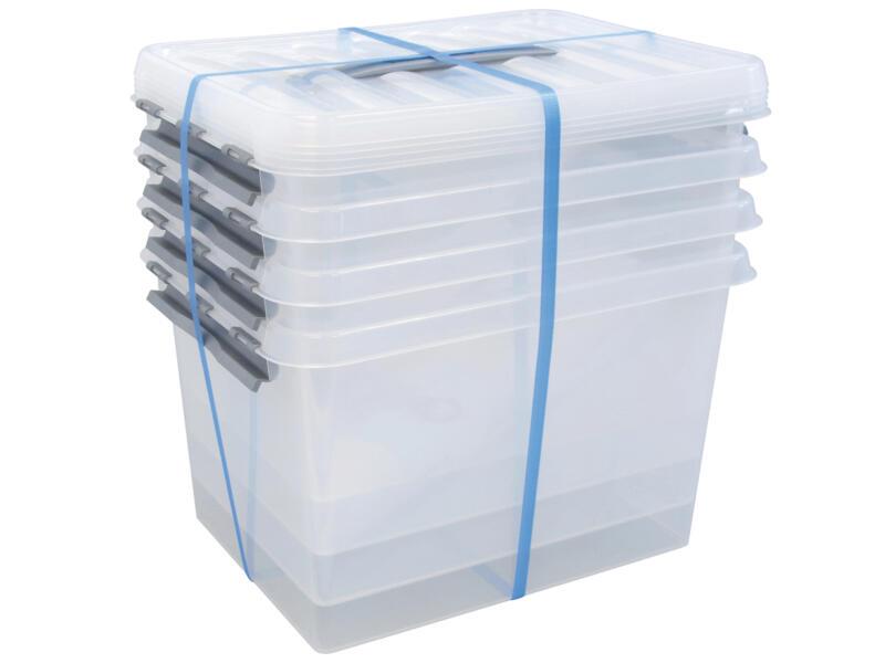 Sunware Q-Line opbergbox 22l transparant 4 stuks