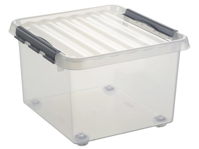 Sunware Q-Line rollerbox 26l transparent 2 pièces
