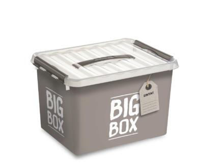 Sunware Q-line Big Box boîte de rangement 22l taupe