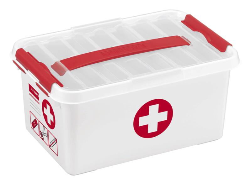 Sunware Q-line First Aid boîte de secours sans contenu 6l blanc