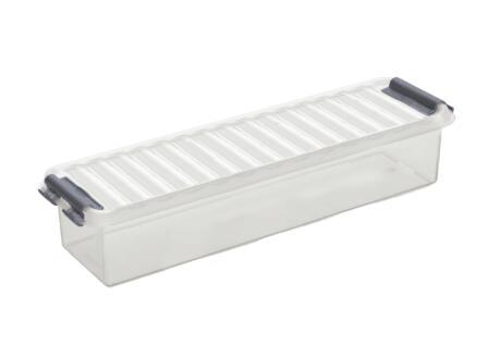 Sunware Q-line Mix & Match boîte de rangement 0,9l transparent/gris
