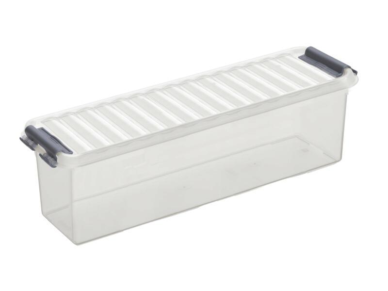 Sunware Q-line Mix & Match opbergbox 1,3l transparant/grijs