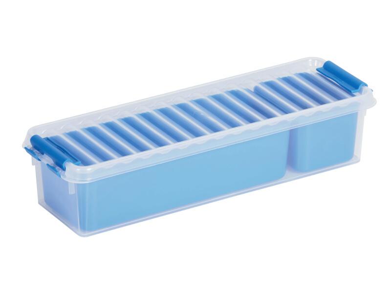Sunware Q-line Mixed boîte de rangement 0,9l transparent/bleu