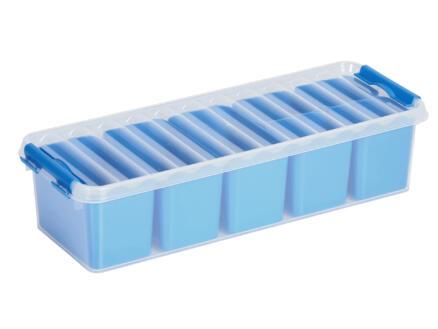 Sunware Q-line Mixed boîte de rangement 3,5l transparent/bleu