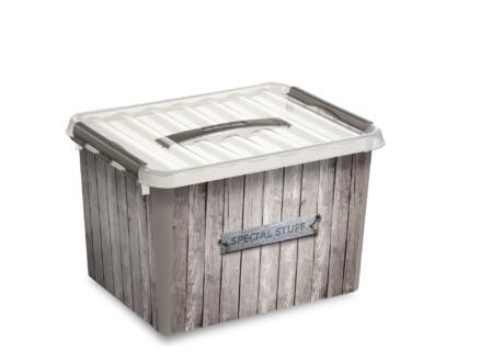 Sunware Q-line boîte de rangement 22l bois
