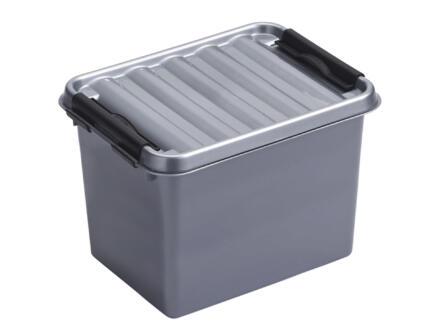 Sunware Q-line boîte de rangement 3l gris/noir