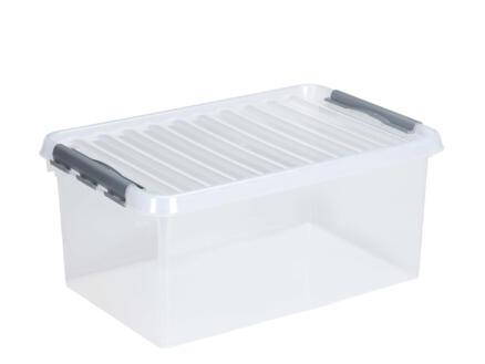 Sunware Q-line boîte de rangement 45l transparent/gris