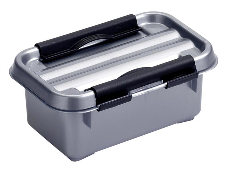 Sunware Q-line opbergbox 0,5l grijs/zwart