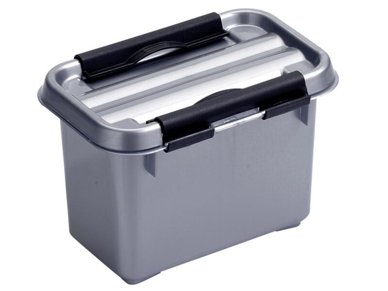 Sunware Q-line opbergbox 0,8l grijs/zwart
