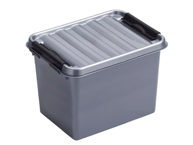 Sunware Q-line opbergbox 3l grijs/zwart