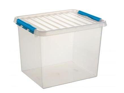 Sunware Q-line opbergbox 52l transparant-blauw