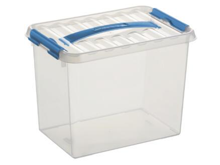 Sunware Q-line opbergbox 9l transparant/blauw