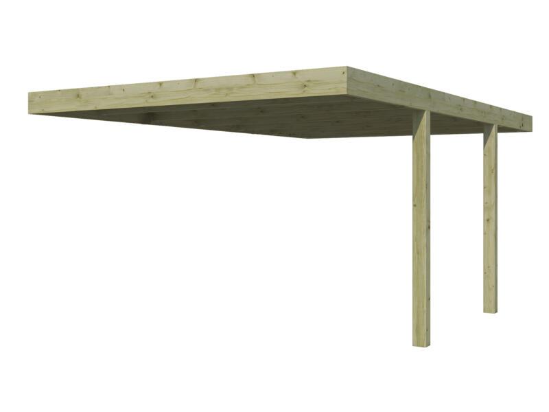 Gardenas QB carport adossé 300x500 cm bois