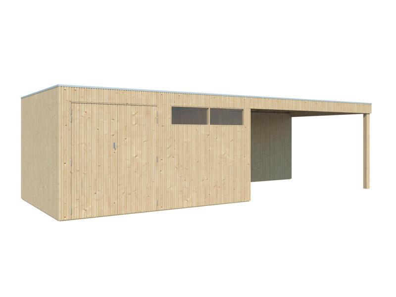 Gardenas QBV L abri de jardin 399x298x220 cm + extension bois 403cm