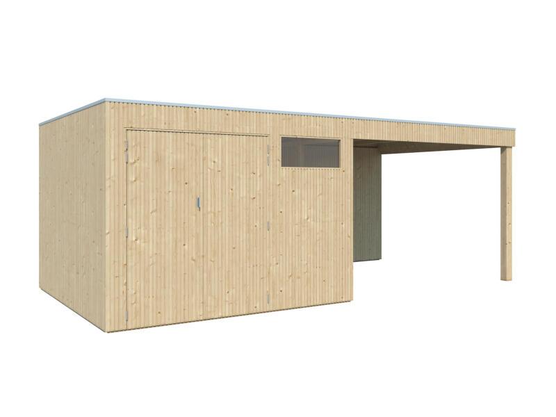 Gardenas QBV M tuinhuis 298x298x220 cm met uitbreiding hout 302cm