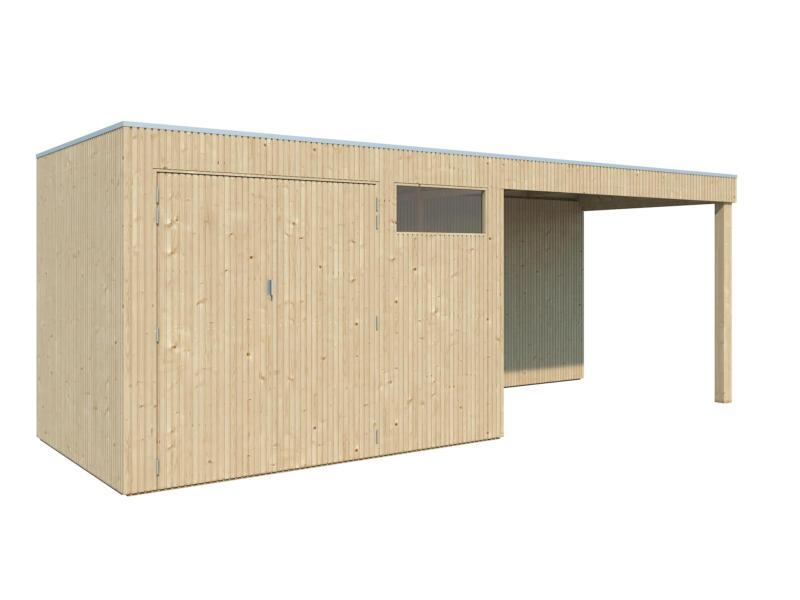 Gardenas QBV S abri de jardin 298x210x220 cm + extension bois 302cm