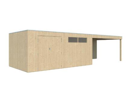 Gardenas QBV XL abri de jardin 500x298x220 cm + extension bois 403cm