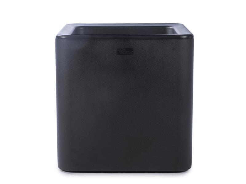 Quadris 40 pot à fleurs 44x44 cm noir
