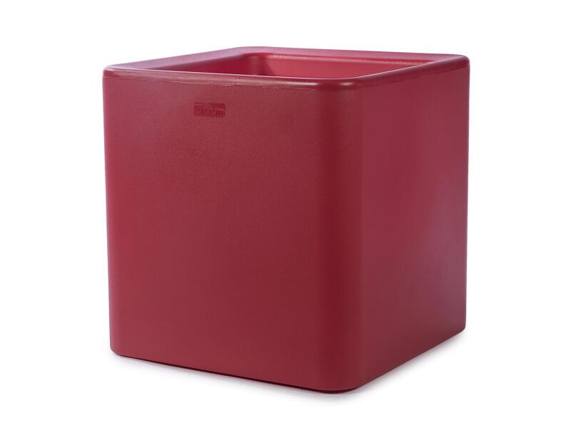 Quadris 40 pot à fleurs 44x44 cm rouge