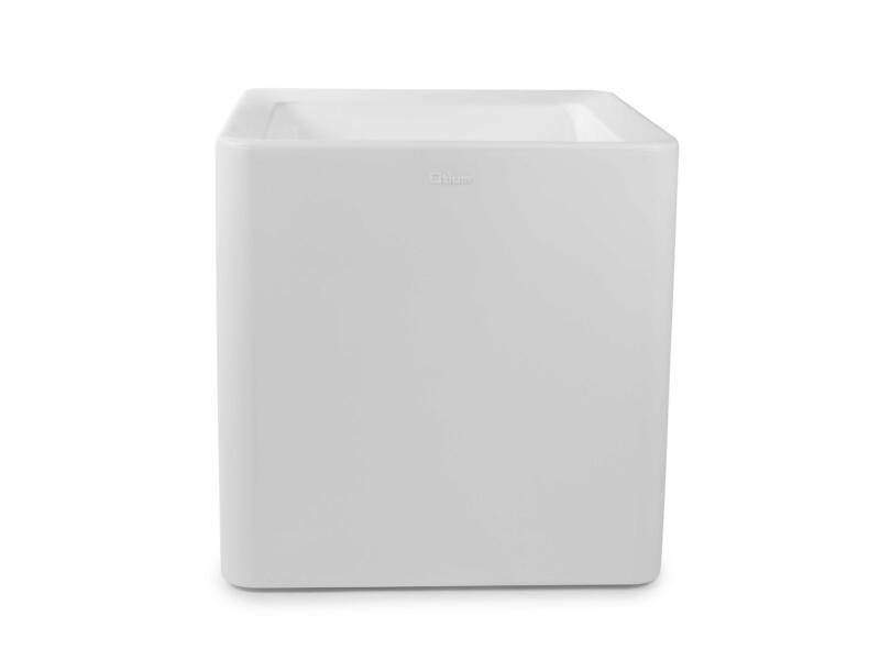 Quadris 60 pot à fleurs 60x60 cm blanc