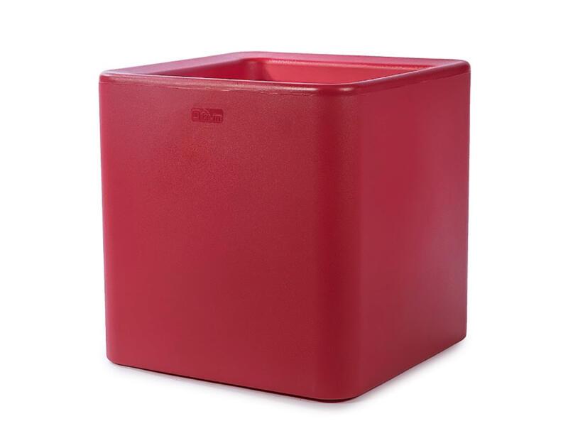 Quadris 60 pot à fleurs 60x60 cm rouge