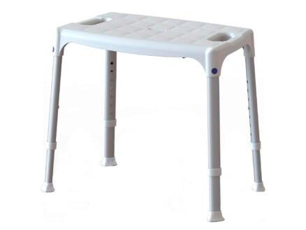 Quattro douchestoel 50cm verstelbaar in hoogte wit