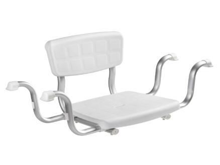 Quattro siège de bain réglable en largeur 500-600 mm blanc