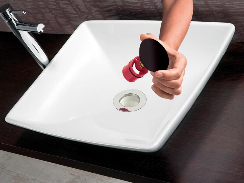 Wirquin Quick Clac siphon lavabo avec bonde 32mm noir mat
