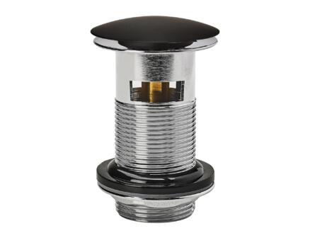 Wirquin Quick Clac wastafelplug 75mm met overloop messing/zwart