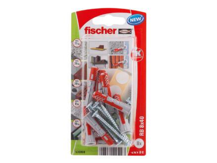 Fischer RB pluggen 8x40 mm met schroef 8 stuks