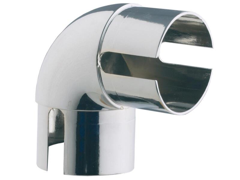 Burger RM90C verbindingsstuk trapleuning 40mm vast 90° verchroomd staal