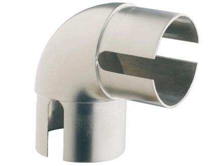 Burger RM90N verbindingsstuk trapleuning 40mm vast 90° staal