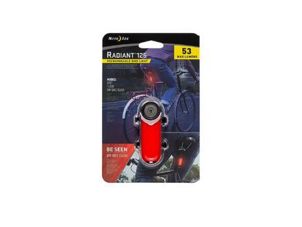 Nite Ize Radiant 125 LED achterlicht oplaadbaar rood 3 functies