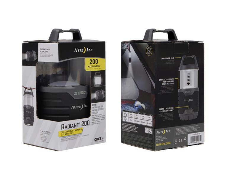 Nite Ize Radiant 200 LED lantaarn/zaklamp inklapbaar