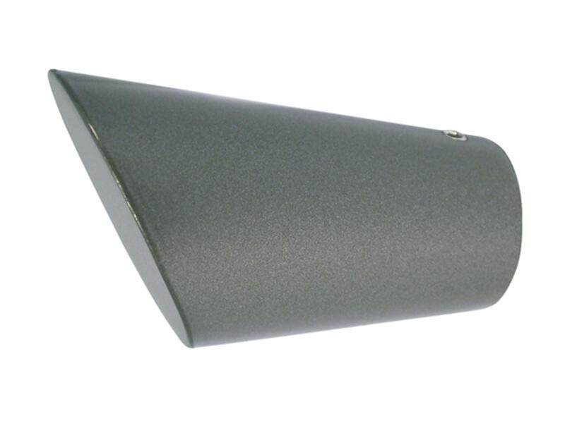 Rag embout pour tringle à rideau 20mm anthracite 2 pièces