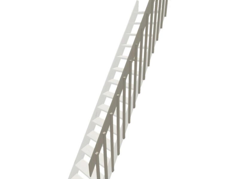 Rampe à balustres pour échelle de meunier Cottage Large pin