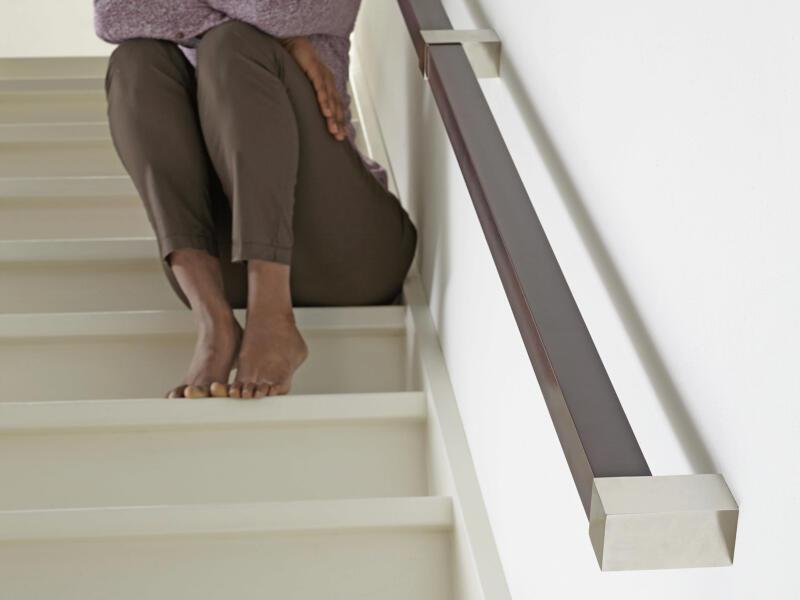 Rampe d'escalier carrée 40mm wengé 270cm