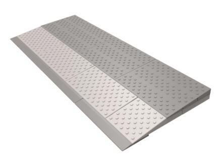 Rampe de seuil modulaire 2 niveaux 84x33 cm gris