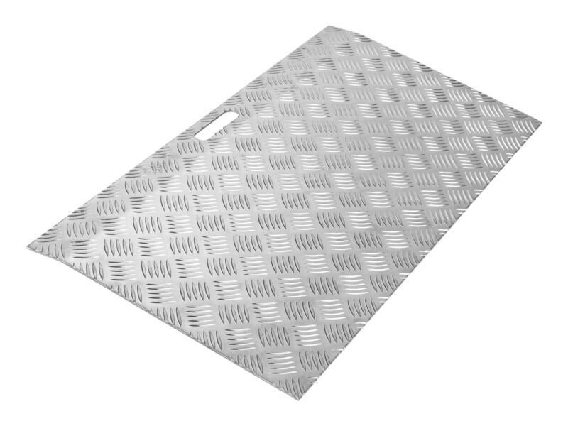 Rampe de seuil type 2 réglable en hauteur 30-70 mm 78x40 cm aluminium