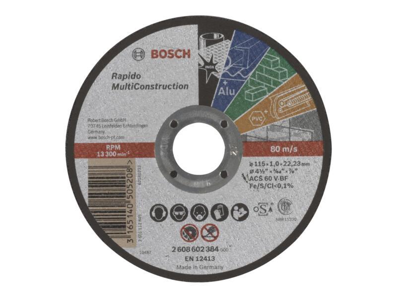 Bosch Professional Rapido Multiconstruction slijpschijf 115x1x22,23 mm