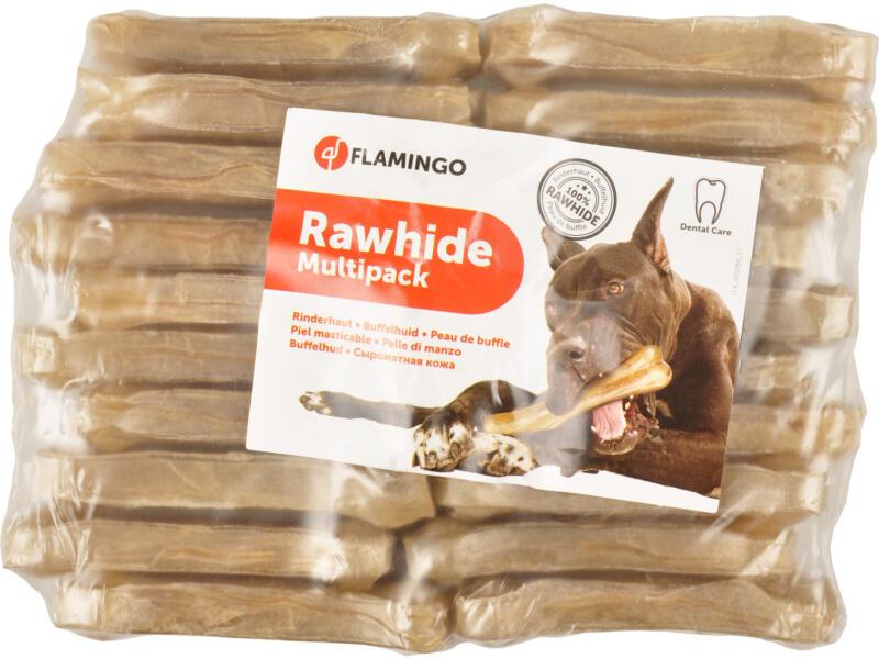 Flamingo Rawhide Multipack hondensnack buffel 8cm 25g 20 stuks