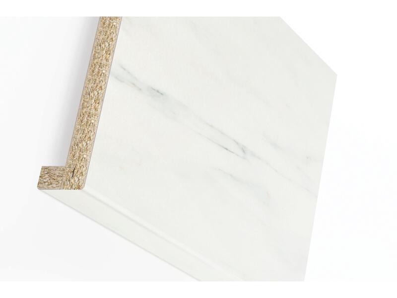 Rebord de fenêtre 305x25x3,8 cm white marble