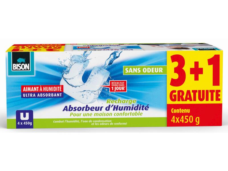 Bison Recharge absorbeur d'humidité Ultra 450g neutre 3+1 gratuit
