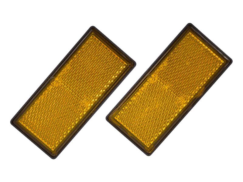 Carpoint Reflector 86x40 mm oranje (2 stuks)