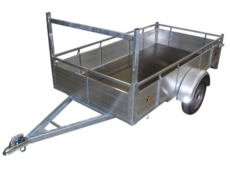 Remorque 300x132 cm aluminium simple essieu
