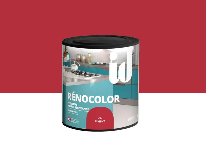 Rénocolor peinture rénovation bois et MDF 0,45l piment